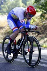 Remco Grasman  world champion on UCI World Championships Time Trial at Albi, France using 2-SPOKE wheelset!