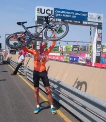 Pieter Aben 3rd on same  event with 2- SPOKE wheelset